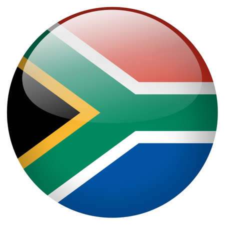 south africa flag: South Africa Button
