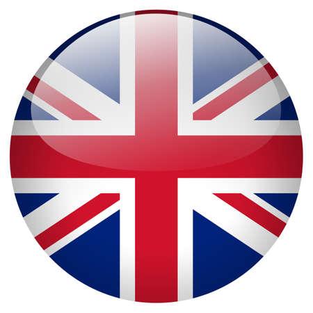 drapeau angleterre: Royaume-Uni sur le bouton Banque d'images