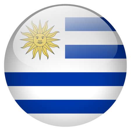 bandera de uruguay: Bandera de Uruguay Foto de archivo