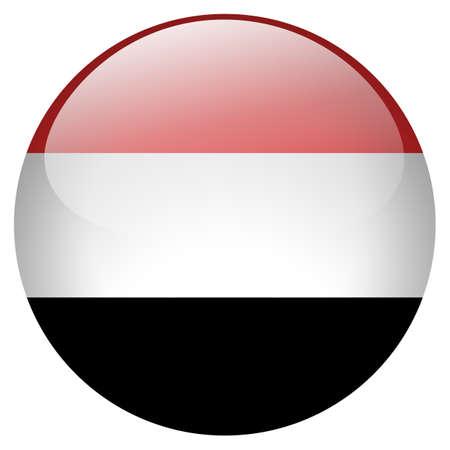 yemen: Yemen Button Stock Photo