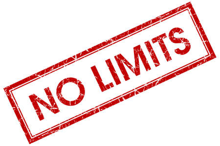 no limits red square stamp photo