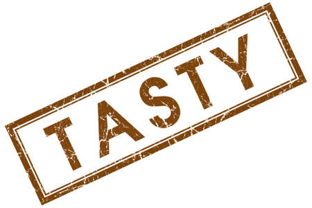 tasty brown square stamp photo