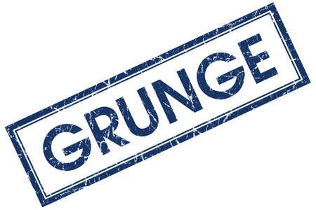 grunge blue square stamp photo