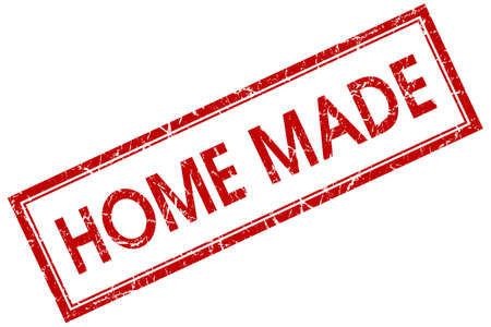 home made: home made red square stamp