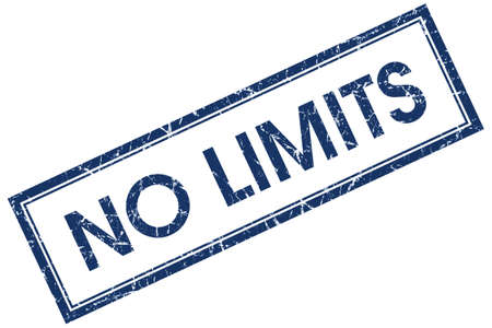 no limits: no limits blue square stamp