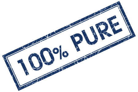 100% pure blue square stamp photo