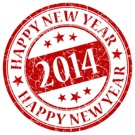 Happy New Year 2014 Red Stamp