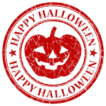 Happy Halloween red grunge stamp photo