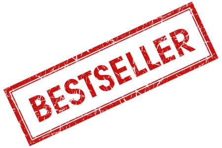 bestseller red square stamp