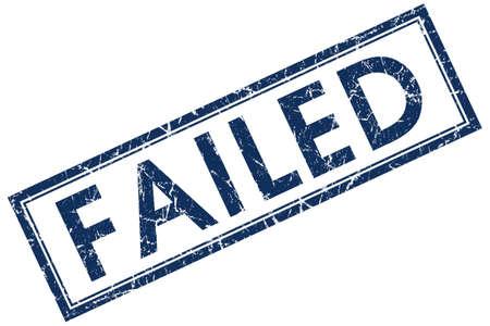 returned: failed blue square stamp