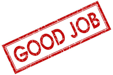good job: good job red square stamp Stock Photo