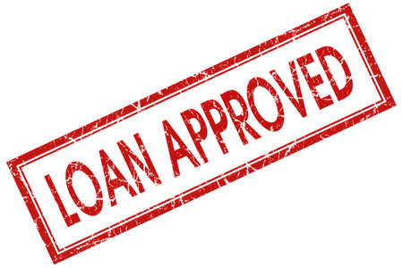 loan approved red square stamp Stock Photo - 21904677