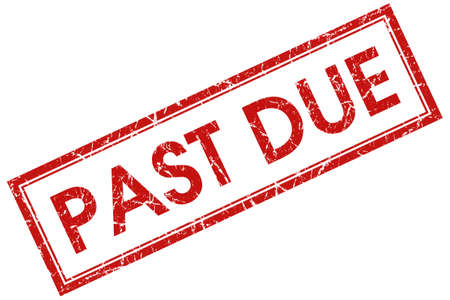 past due: past due red square stamp