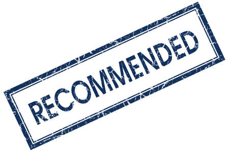 recommended: recommended blue square stamp