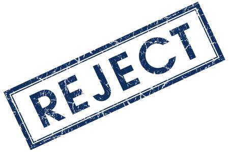 acceptation: reject blue square stamp