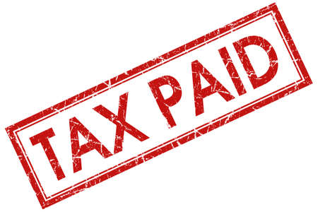 paid: tax paid red square stamp Stock Photo