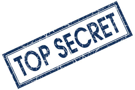 confidentiality: top secret blue stamp