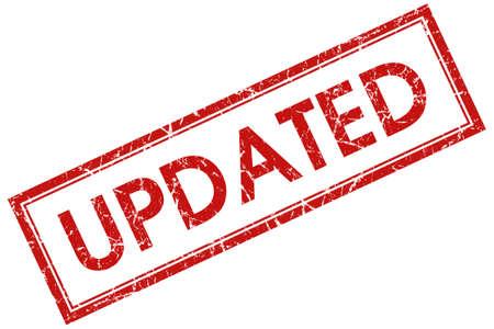updated: actualizado sello cuadrado rojo