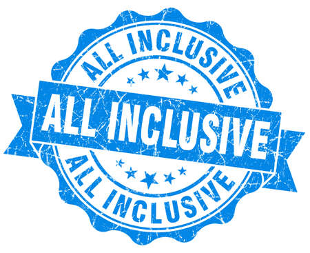 inclusive: all inclusive grunge blue stamp Stock Photo