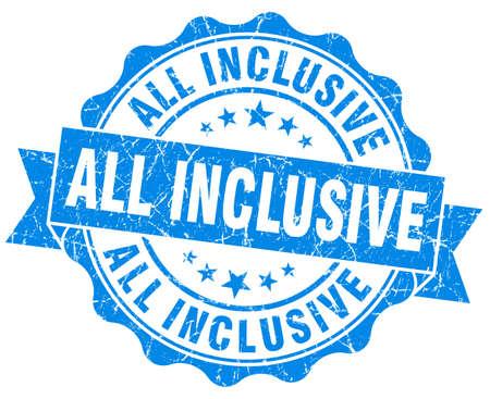 inclusive: all inclusive grunge blue stamp Stock Photo