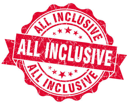 inclusive: all inclusive grunge red stamp Stock Photo