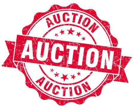 auction grunge red stamp 写真素材