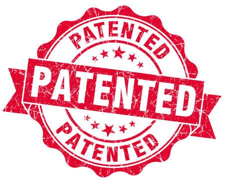 patented grunge red stamp photo