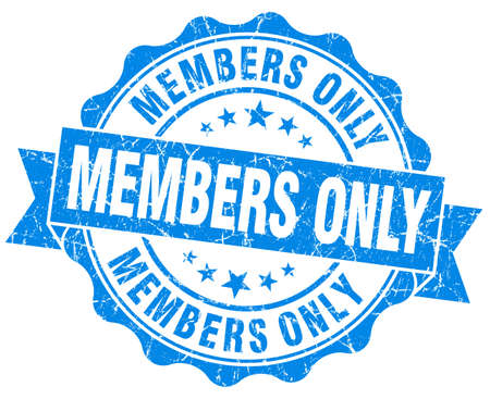 members only grunge blue stamp photo