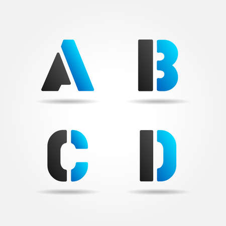 letter b: ABCD blue