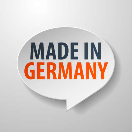 Made in Germany 3d Speech Bubble on white background Vector