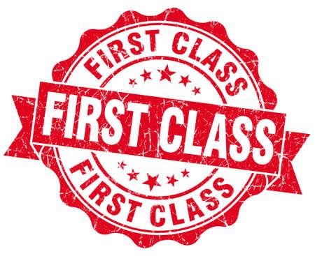 First Class Grunge Stamp photo