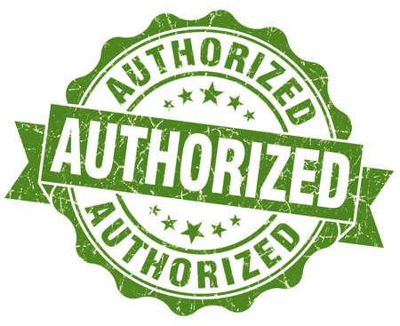 authorized: authorized green grunge stamp