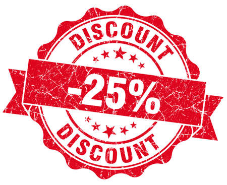 discount 25% red grunge stamp Stock Photo