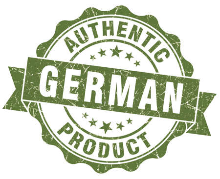 German product green grunge stamp photo