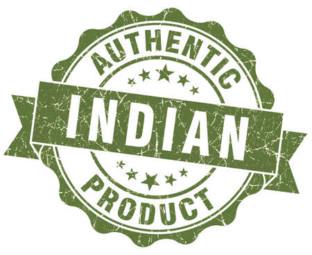 Indian product green grunge stamp photo