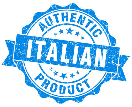 Italian product blue grunge stamp photo