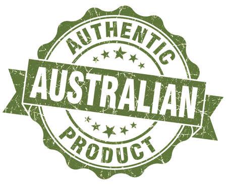 Australian product grunge green stamp photo