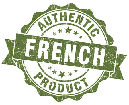 French product green grunge stamp photo