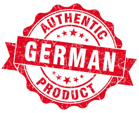 German product red grunge stamp photo