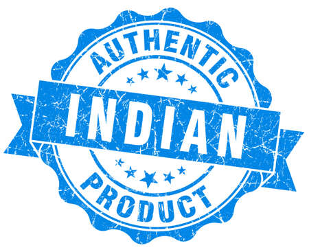 Indian product blue grunge stamp photo