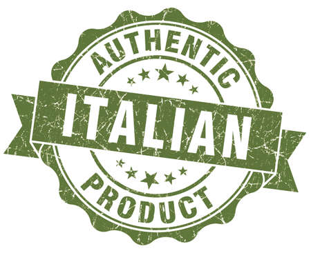 Italian product green grunge stamp photo