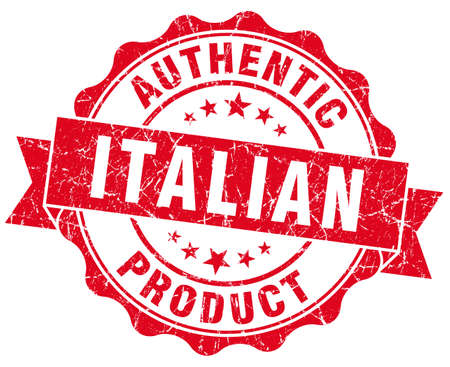 Italian product red grunge stamp photo