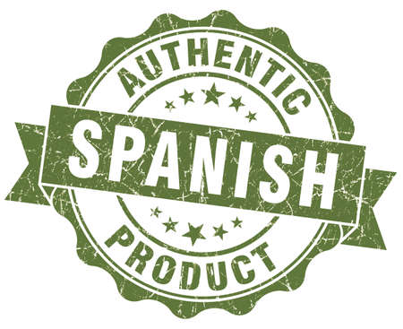 made in spain: Spanish product green grunge stamp