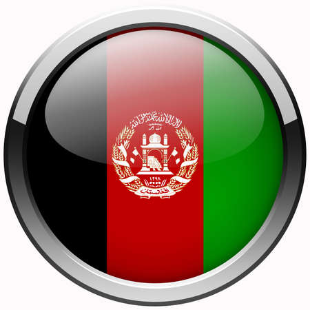 afghanistan flag: afghanistan flag gel metal button