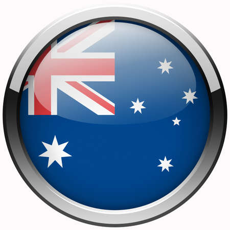 australia flag gel metal button photo