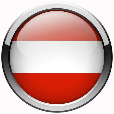 austria flag gel metal button photo