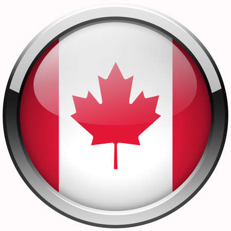 canada flag gel metal button photo
