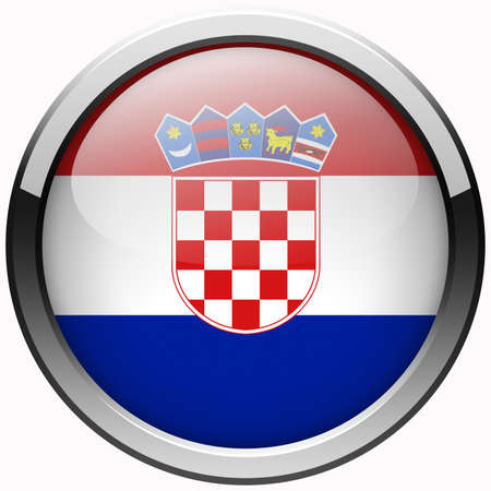 croatia flag gel metal button photo