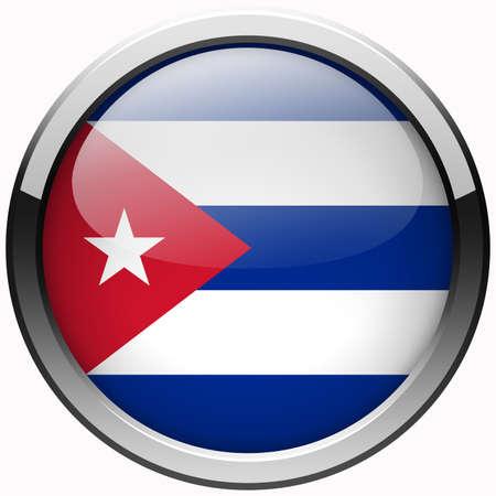 bandera cuba: Cuba bot�n met�lico gel bandera