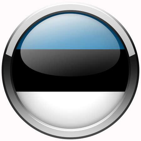 estonia flag gel metal button photo